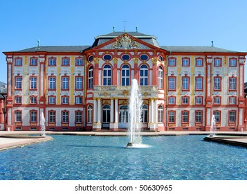 Old castle in Bruchsal in Germany