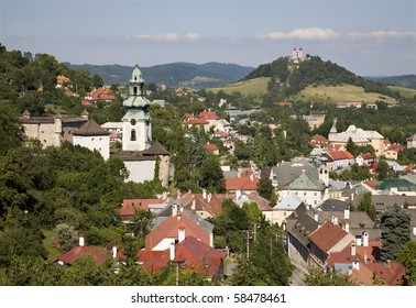 old castle and calvary in Banska Stiavnica - Slovakia - unesco monument