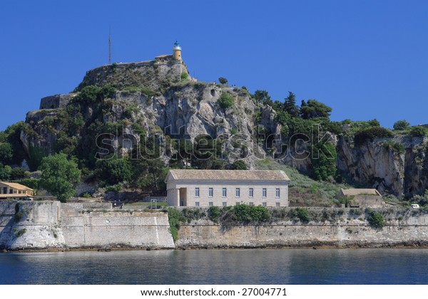 the old castle of Corfu town