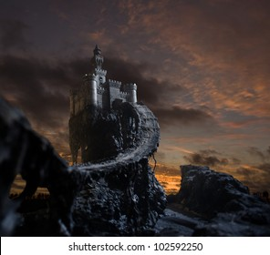 Old castle on the hill