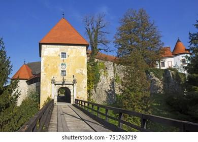 Old Castle Ozalj  in the town of Ozalj, Croatia