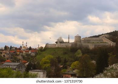 Old castle in place Travnik, Bosnia and Herzegovina,15.04.2019