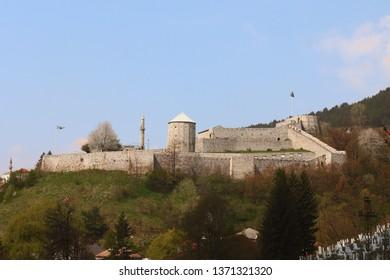 Old castle in place Travnik, Bosnia and Herzegovina,16.04.2019