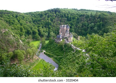 Old Castle. Rhine River Valley, Germany
