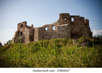 Old castle ruins in Siewierz in Poland