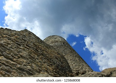 old castle and stone tower