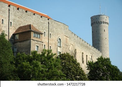 Old castle in summer in sunny weather