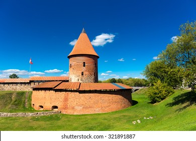 Old castle tower in Kaunas Lithuania