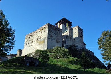 The old castle in Trencin, Slovakia