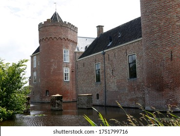 Old castle Westhove, famous castle between Domburg and Oostkapelle, Zeeland, The Netherlands