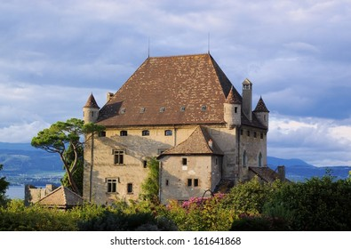 Old castle of Yvoire village in France