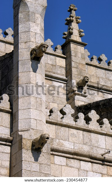 Old cathedral in Guarda, Portugal (detail)