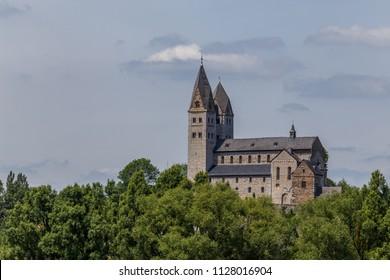 Old catholic basilica church in Dietkirchen, close to Limburg, Germany