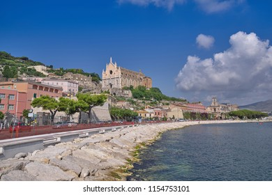 Old Catholic Cathedral on the Odysseus Coast of Italy
