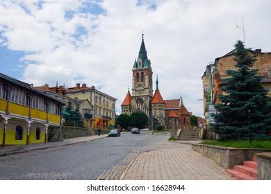 Old Catholic church in Chortkiv Ukraine