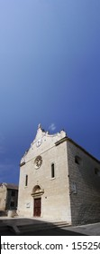 Old catholic church in the city of Bol on the island of Brac on the Adriatic coast in Dalmatia.