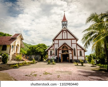 Old Catholic church at Sikka, Flores Island, Indonesia. Portuguese colonial period
