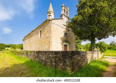 old catholic church in Sterna, Istria, Croatia.