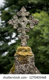 Old Celtic Cross in an ancient Scottish church yard