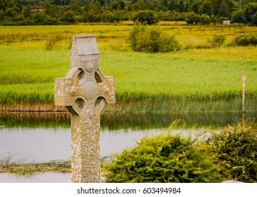 Old celtic cross headstones