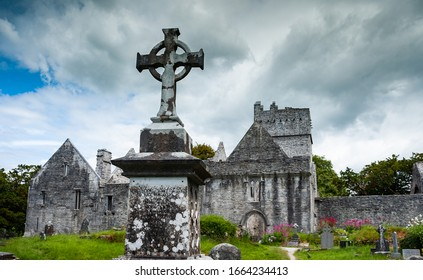Old cemetary on the grounds of Muckross Abbey in Killarney national park