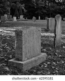 Old cemetery in Black and White