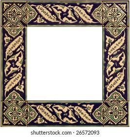 An old ceramic tile frame
