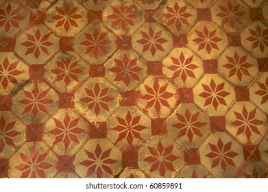 Old ceramic tiles, pattern and texture