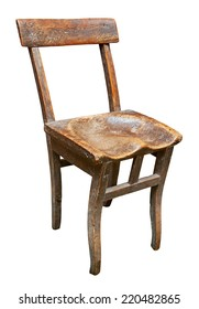 Old chair isolated. Clipping path included.