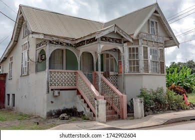 The old chattel houses in Bridgetown Barbados are full of colour and character