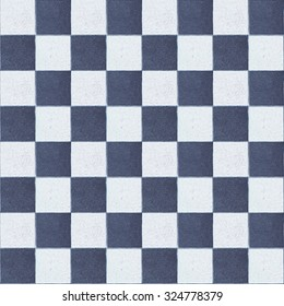 Old checker chess blue square tiles seamless tiled texture abstract.  tile wall. tiles textures background. marble tiled floor. tiled stones.  ceramic brick tile wall,background. mosaic tiles texture