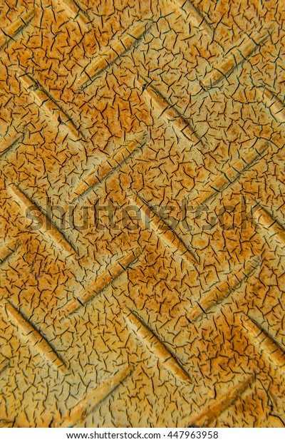 Old checkered steel plate, Thailand