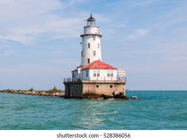 Old Chicago lighthouse on Lake MIchigan