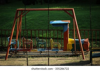 old children Train in playground at Chiangmai Thailand