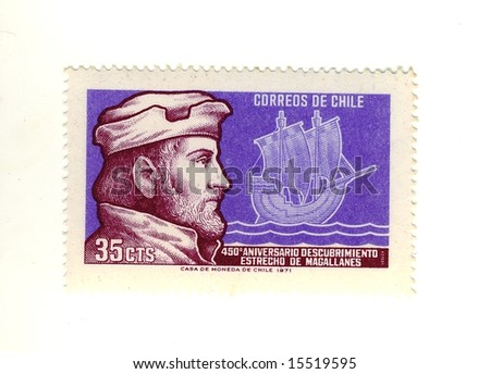 Old Chile Stamp Stock Photo Edit Now 15519595