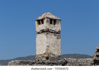 An Old Chimney Against Blue Sky