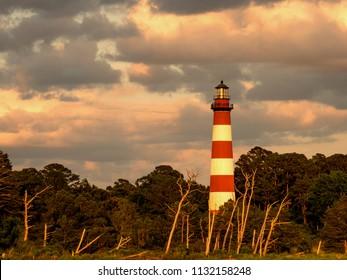 The old Chincoteague Island lighthouse.