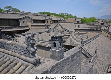 The old Chinese architectural style of Wang's family compound in Shanxi Province nears Pingyao old town.