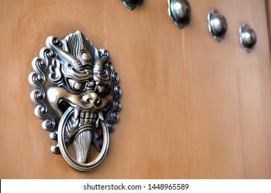 Old Chinese door handle in Hong Kong