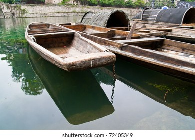 old chinese river boat