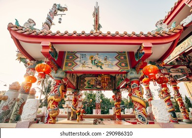 Old Chinese temple in Mae-sot