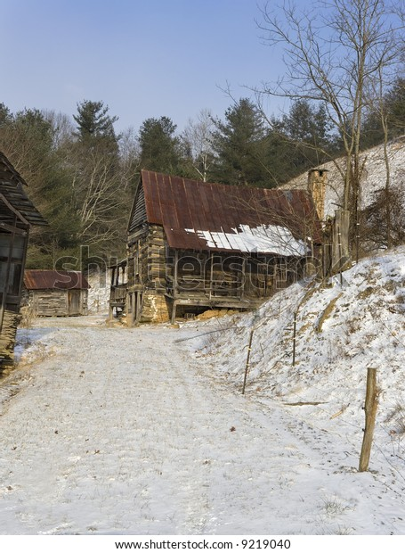 Old Chinked Log House Blue Ridge Stock Image Download Now