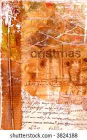 old christmas card (grunge concept)