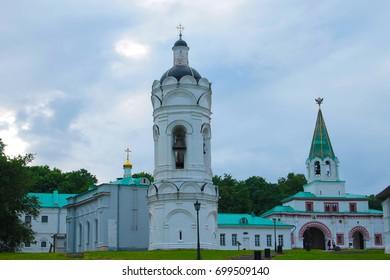 Old church with belfry in Kolomenskoye Moscow