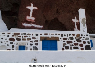 Old Church Building in Santorini Greece