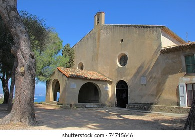 Old church in Cap d Antibes, French Riviera