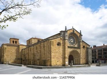 Old church in the center of the city of Avila. Spain
