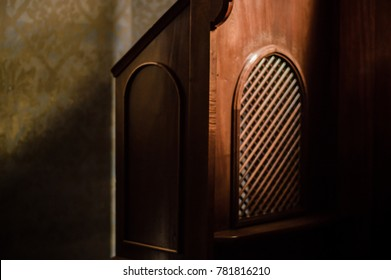 Old church confessional.