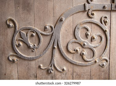 Old church door detail. Background