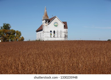 old church in field